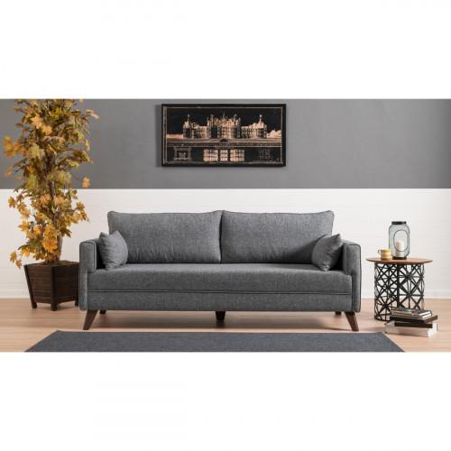 ספה תלת Bella אפור במסדרת Mezza
