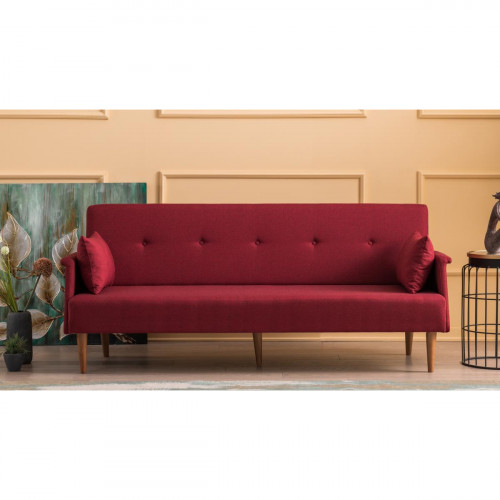 ספה נפתחת למיטה תלת Navan בורדו במסדרת Mezza