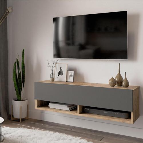 מזנון טלוויזיה תלוי FR13-AA אלון/אפור 100ס