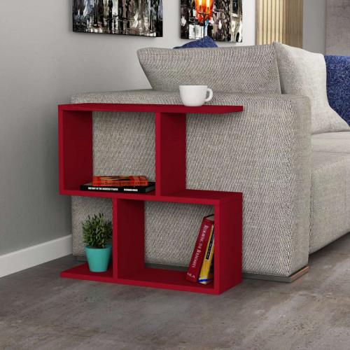 שולחן צד Homemania אדום מסדרת Decoline