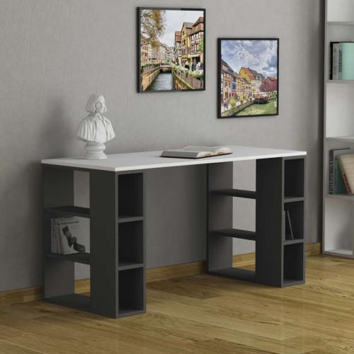 שולחן כתיבה Colmar לבן/אפור מסדרת Decoline