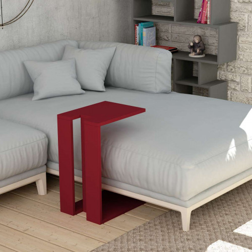 שולחן צד Muju C אדום מסדרת Decoline