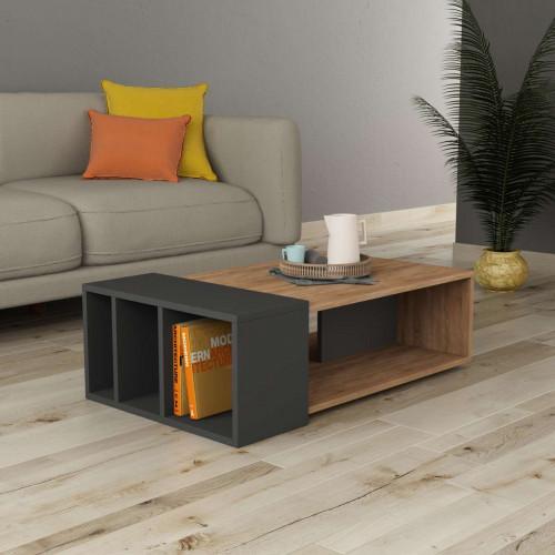 שולחן סלון Anita אלון/אפור מסדרת Decoline