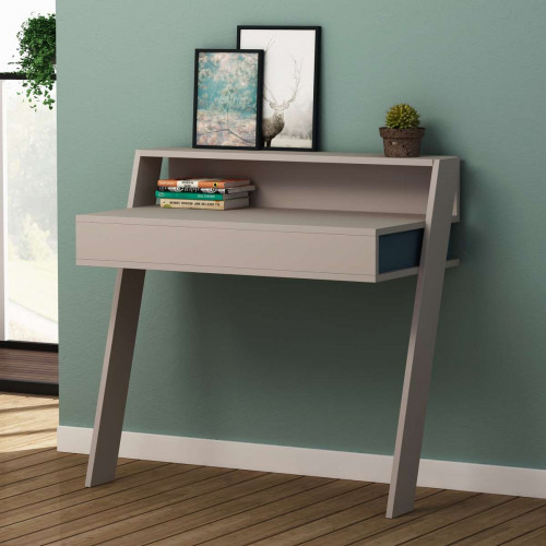 שולחן כתיבה Cowork Working table מוקה/טורקיז מסדרת Decoline