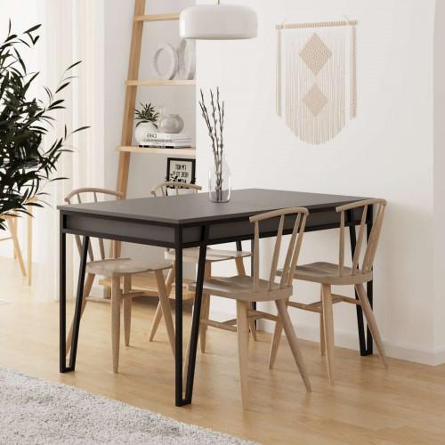 שולחן אוכל דגם Pal Dining Table אפור מסדרת Decoline