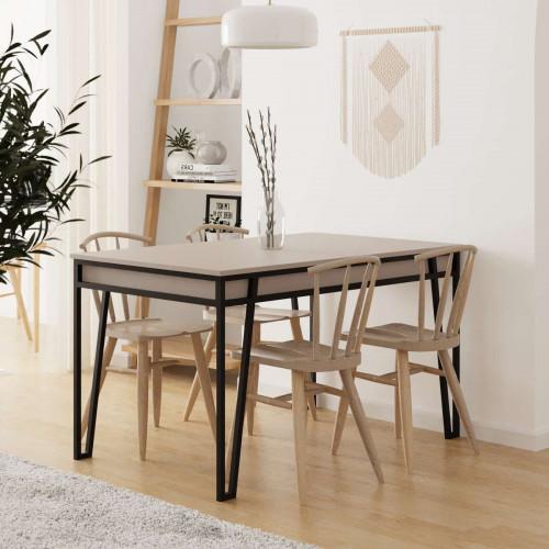 שולחן אוכל דגם Pal Dining Table מוקה מסדרת Decoline
