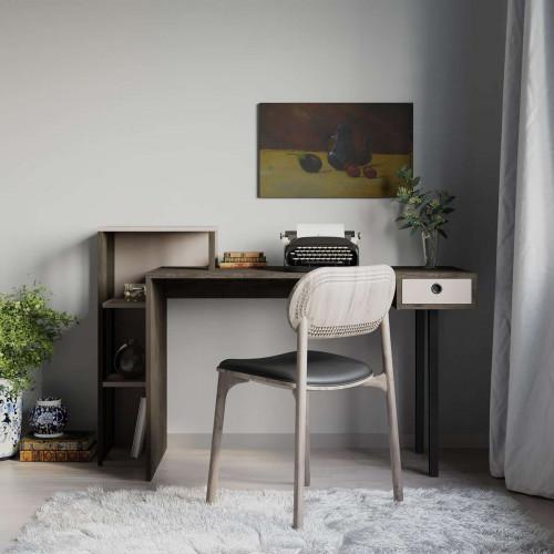 שולחן כתיבה Loyd Study Table קפה/מוקה מסדרת Decoline