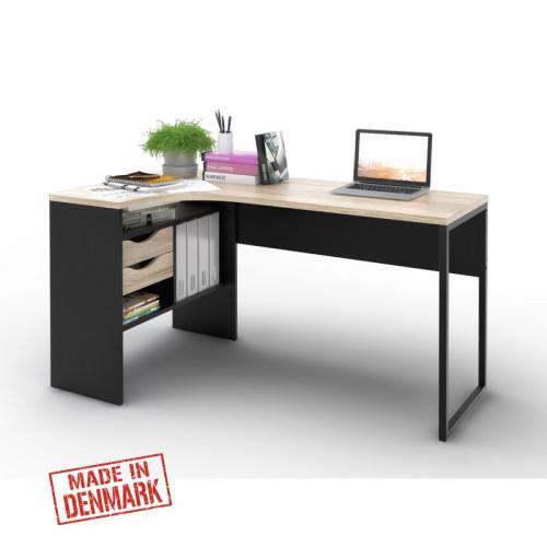 שולחן כתיבה פינתי עם מגירות ותא אחסון תוצרת דנמרק דגם מילי