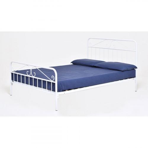 DION מיטת מתכת מעוצבת זוגית 140*190 אופוויט