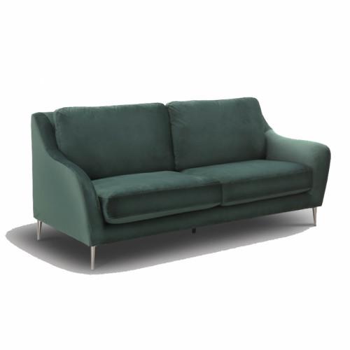 ספה תלת מושבית מעוצבת בריפוד בד קטיפה דגם קרטר