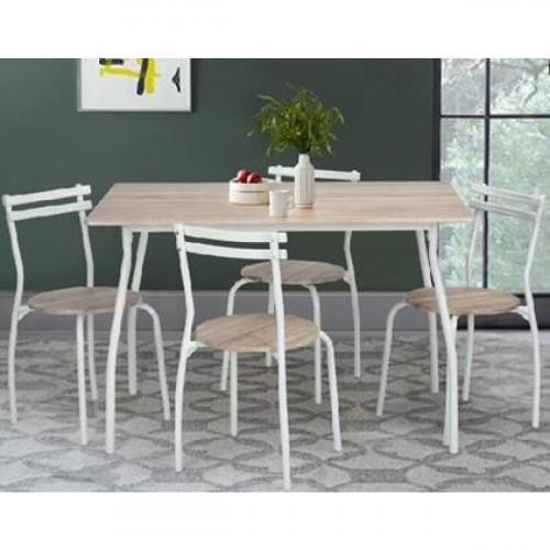 פינת אוכל מודרנית דגם ריידר כולל 4 כסאות