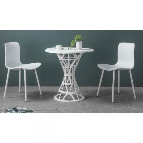 רביעיית כיסאות דגם LIZA לבן X4