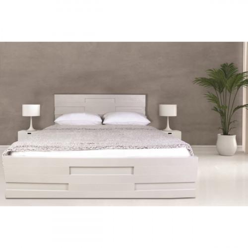 מיטה מעוצבת  עיצוב חדשני עם ארגז מצעים  מתאימה למזרון 160/190 לימור