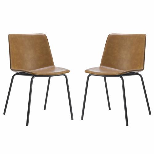 זוג כסאות לפינת אוכל עם רגלי מתכת  דגם אבירם