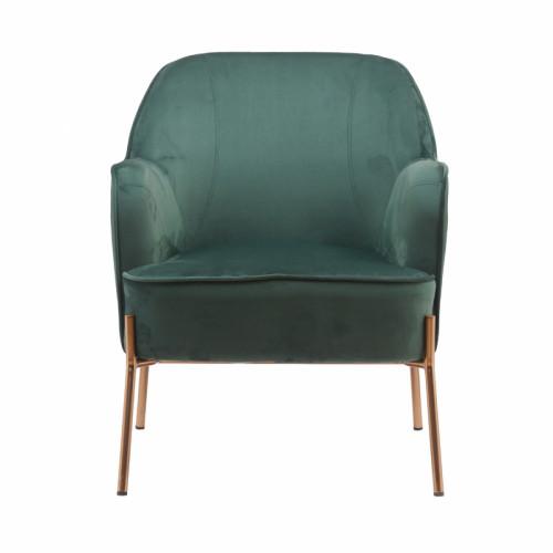 כורסא מעוצבת ונוחה עם רגלי זהב  דגם יורק צבע ירוק