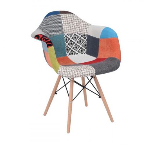 כיסא אירוח מעוצב  דגם קולר טלאים
