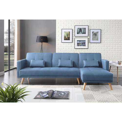 מערכת ישיבה פינתית נפתחת למיטה KENZY כחול