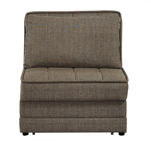 כורסא נפתחת למיטה יחיד עם ארגז מצעים BARRISTA חום