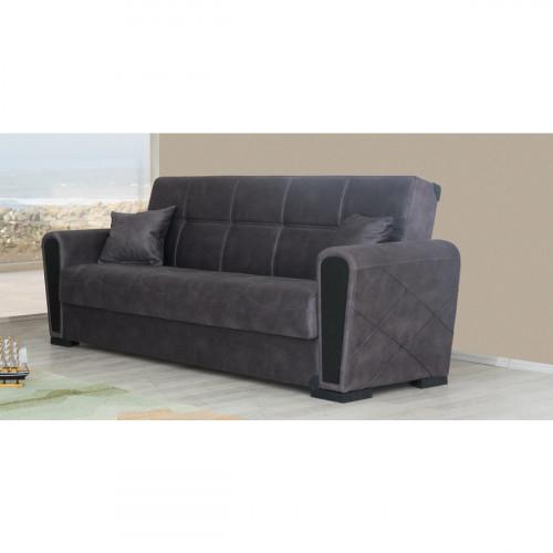 ספת 3 מושבים נפתחת למיטה עם ארגז מצעים INKI אפור