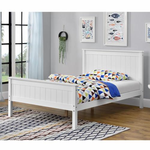 מיטה רחבה לנוער עשויה עץ מלא משולב  דגם דביר 120