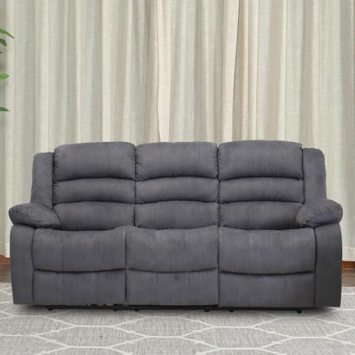 ספה תלת מושבית  מבד עם 2 הדומים נשלפים דגם פירנצה אפור