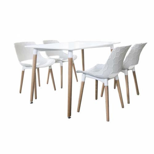 פינת אוכל קטנה הכוללת שולחן ו- 4 כסאות דגם גולן