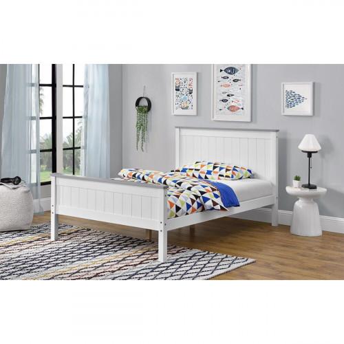 מיטת נוער (מיטה ברוחב וחצי) מעץ מלא המעוצבת בסגנון קלאסי ומתאימה למזרן 120/190, דגם ליטל