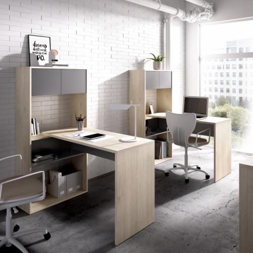 עמדת עבודה מודולארית עם שולחן כתיבה תוצרת ספרד דגם פלקסי