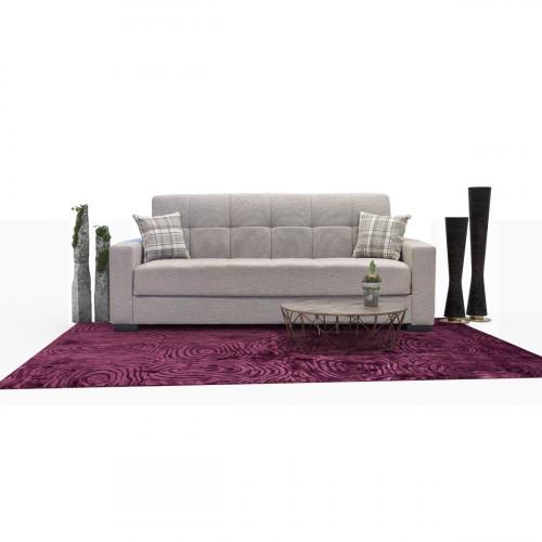 ספה תלת מושבית נפתחת למיטה עם ארגז מצעים FERMINA בז'