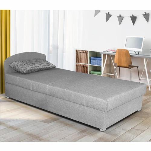 מיטת יחיד עם ראש מתכוונן וארגז מצעים, גודל המיטה 90/190, דגם מישל