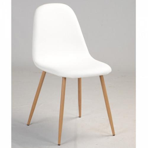 קרלטון דמוי עור - כיסא רב תכליתי לבן