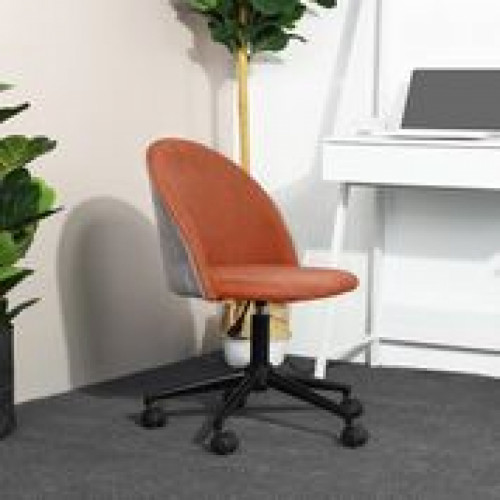 כיסא דאדלי - כיסא משרדי מעוצב כתום - אפור
