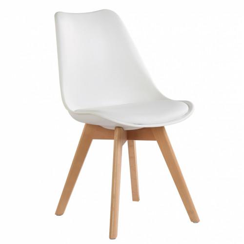 רביעיית כיסאות דגם TULIP לבן X4