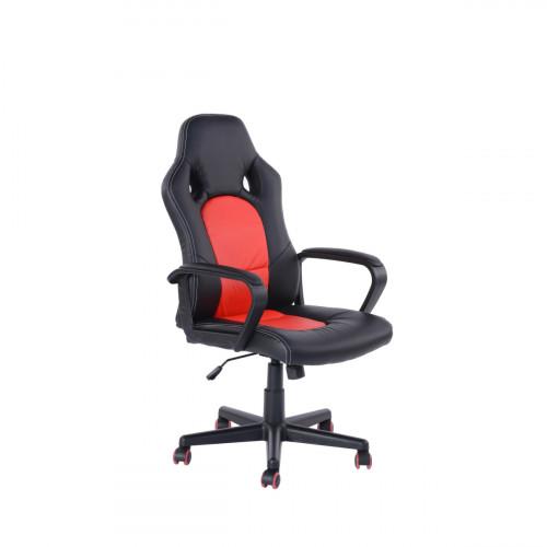 כיסא גיימר דגם קלאץ' אדום - שחור