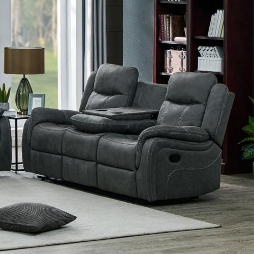 ספה תלת מושבית עם הדומים דגם אוליביה-תלת אפור