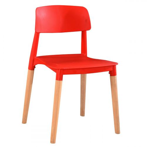 כיסא לפינת אוכל דגם DUBLIN אדום