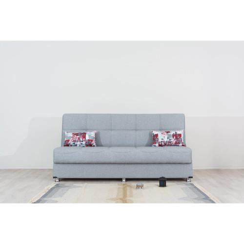 ספה 3 מושבים נפתחת למיטה + ארגז מצעים LIBA אפור בהיר