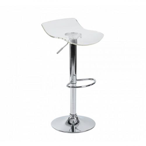 כיסא בר אקרילי שקוף בשילוב רגל כרום דגם וונדי שקוף
