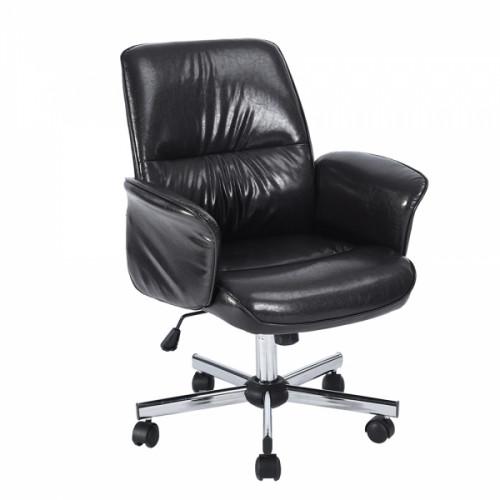 כיסא מנהל וושינגטון - דמוי עור שחור
