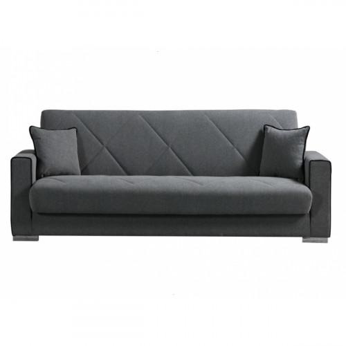 ספה תלת נפתחת למיטה כוללת ארגז מצעים דגם MERIC אפור