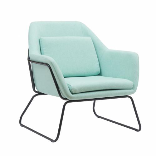 כורסא מעוצבת עם רגלי ברזל דגם ברייטון ירוק בהיר