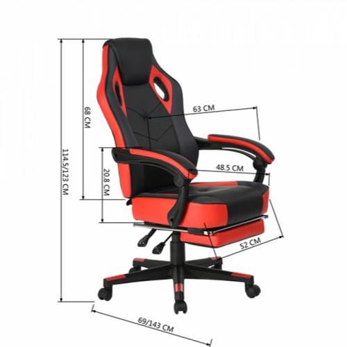 כסא דגם פלז'ר - אדום