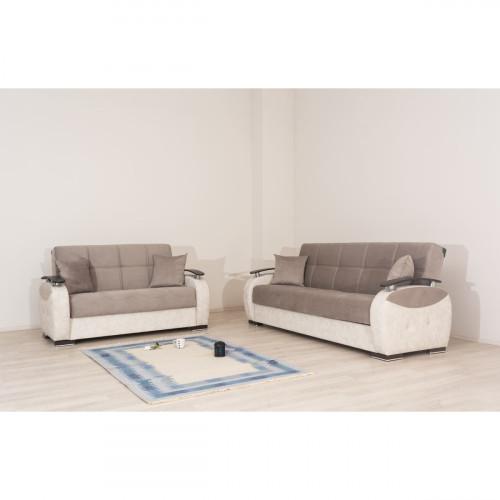 ספת 3+2 מושבים נפתחת למיטה עם ארגז מצעים GAMMA