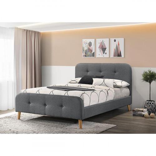 מיטת זוגית מעוצבת בריפוד בד דגם נורית 140x190