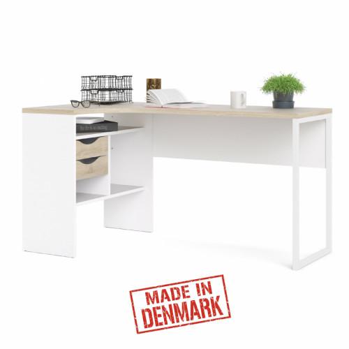 שולחן כתיבה פינתי עם מגירות ותא אחסון תוצרת דנמרק דגם מיטל