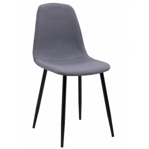 רביעיית כסאות SOLNA בד אריג אפור  X4