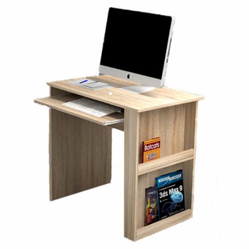 שולחן מחשב מיכל - צבע עץ טבעי