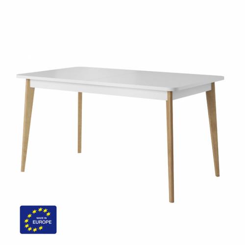 שולחן אוכל 1.4 מ נפתח עם רגלי עץ מלא דגם אסיה