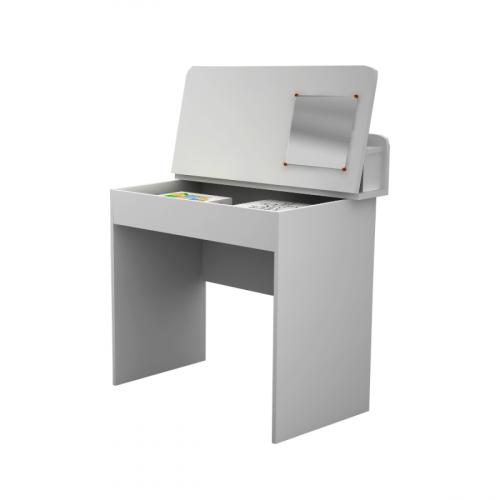 שולחן כתיבה עם משטח נפתח - לבן