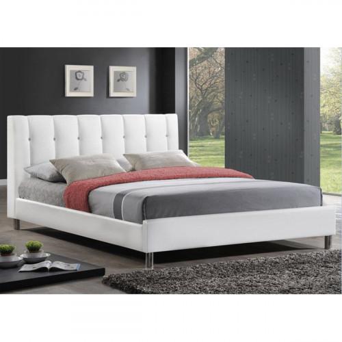 מיטה ברוחב וחצי מעור אמיתי דגם BYANCA לבן 120/190